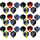 Phenovo 6 Sets 30 Pieces Standard Dart Flights For Steel Tip Darts And Soft Tip Darts