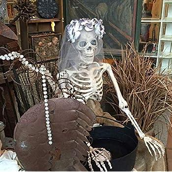 Relaxdays Dekoknochen 12 Tlg Set Halloween Deko Außen Innen