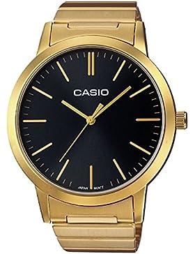 Casio Collection – Unisex-Armbanduhr mit Analog-Display und Edelstahlarmband – LTP-E118G-1AEF