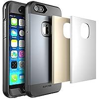 iPhone 6S Schutzhülle, SUPCASE Apple iPhone 6Fall Wasser Resist Ganzkörper Schutz Heavy Duty Case mit integrierter Displayschutzfolie und 3austauschbare Abdeckungen) (Platz Grau/Silber/Gold), Dual Layer Design/Impact Resistant Bumper