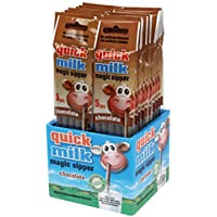 Pajitas mágicas chocolate Quick Milk (20 packs = 100 pajitas). Producto para España. (Chocolate)