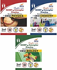 Chapter-wise NCERT + Exemplar Solutions for CBSE Class 11 PCB (Set of 3 Books)