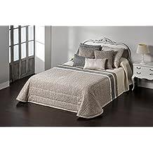 Textilia Ibiza - Edredón para cama de 180 cm, 270 x 270 cm, color beige