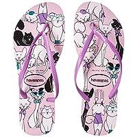 Havaianas Women's Slim Pets Flip Flop Sandal, Rose Quartz, 9/10 M US