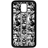 Case for Samsung Galaxy s5,Black/White Sides,Classic Style Customzie Unique Design Galaxy s5 Cases , High Qualiy TPU Material,One Piece Samsung Galaxy s5 Case