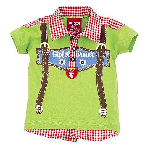 Bondi Baby Shirt Poloshirt Hosenträger grün Grün
