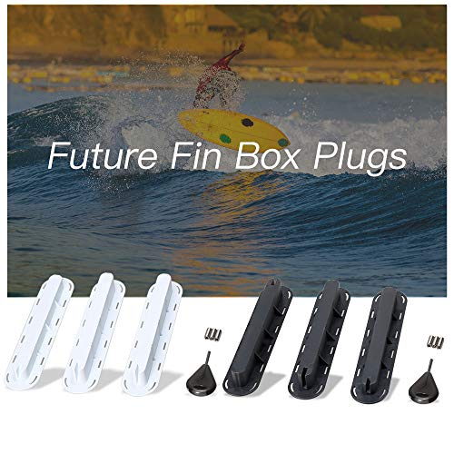 Festnight 3er Pack Future Tri Flossen Box Plugs Fin Basis SUP Schraube Surf Flossen Plugs Set Extra Fin Key Fin Schrauben -
