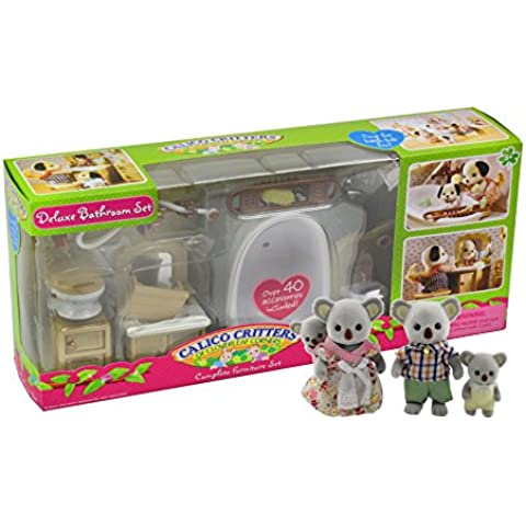 Calico Critters Koala Family with Bathroom Set by Calico Critters