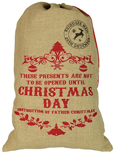 chtsgeschenkesack aus Sackleinen - Not to Be Opened Until Christmas Day ()
