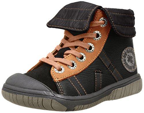 Babybotte Artiski1, Sneakers Hautes garçon, Noir (396 Noir/Camel), 19 EU (UK child 3 Enfant UK)