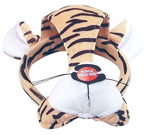 n Mädchen Jungen Animal Halloween Buch Kostüm Gesichtsmaske mit Ton Kostüm Outfit Zubehör - Tiger ()