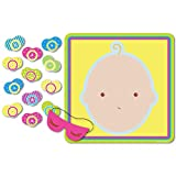 Image of Beistle 66675 Pin The Pacifier Baby Shower Game, 17