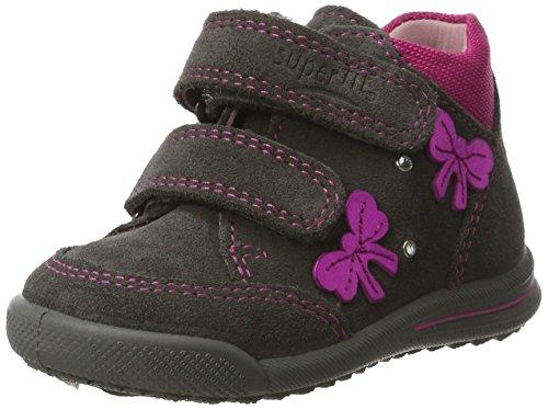 Superfit Baby Mädchen Avrile Mini Lauflernschuhe, Grau (Stone Kombi), 21 EU Mädchen Schuhe Leder