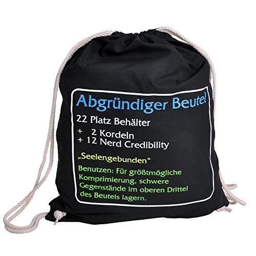 Abgründiger Beutel Sportbag Tasche für World of Warcraft Gaming Fans 46x36cm schwarz (Königreich Sports World)