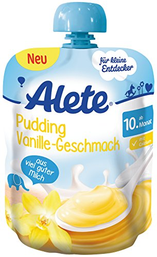 Alete Pudding Vanille Geschmack, 10er Pack (10 x 85 g)