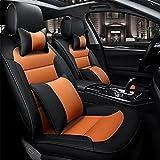 RUIRUI Coprisedili Copertura Protezioni in pelle di cuscino per auto quattro stagioni , Orange