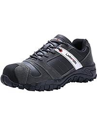 LARNMERN Sicherheitsschuhe Herren,LM-18 Arbeitsschuhe Stahlkappe Stahlsohle Anti-Rutsch Industrie und Bau Schuhe Atmungsaktiv Komfortabel