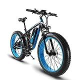 Extrbici E Mountain Bike XF800 1000W 48V 13AH e bike herren 26 'Aluminium-Legierung Rahmen Full Suspension Fett Bike Cruiser 7 Geschwindigkeiten Shimano Shift System eBike Hydraulische Scheibenbremse