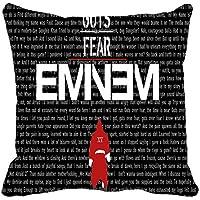 Naierkeji Eminem Guts - Funda de Almohada (45,7 x 45,7 cm