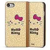 DeinDesign Apple iPhone 7 Leder Flip Case Tasche Hülle Hello Kitty Merchandise Fanartikel Leo