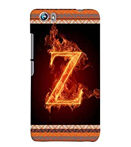 Fuson 3D Printed Alphabet Z Designer back case cover for Micromax Canvas Fire 4 A107 - D4217