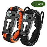 Paracord Survival Armband Kit 2er-Set für Outdoor Survival