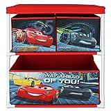 Aufbewahrungsschrank mit Motivauswahl- Spielzeugkiste - Aufbewahrungsregal für Kinder (Cars)