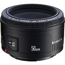 Canon EF 50mm f/1.8 II - Objetivo para Canon (distancia focal fija 50mm, apertura f/1.8-22, diámetro: 52mm), negro