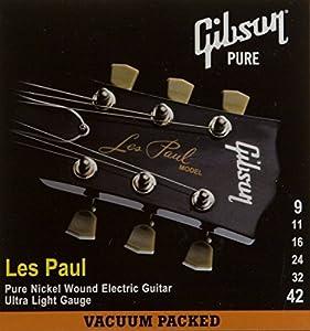 Gibson Gear SEG-LP9 Cordes nickelé pour Guitare électrique Extra Léger