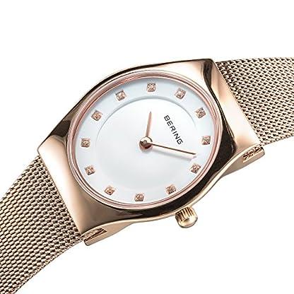 BERING Reloj Analógico para Mujer de Cuarzo con Correa en Acero Inoxidable 11927-366