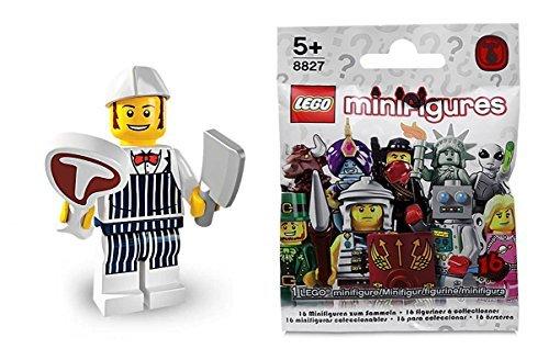 LEGO 8827 - Minifigur Schlachter / Metzger aus Sammelfiguren-Serie 6 (Lego Serie 9 Minifiguren)