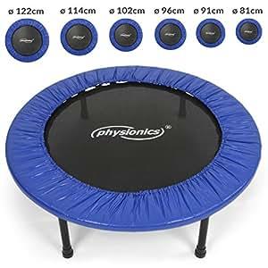 Physionics - Trampoline fitness - utilisable à l'intérieur comme à l'extérieur – Taille 2 (Ø: 91 cm) – TAILLE AU CHOIX