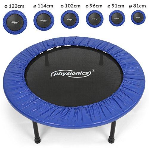 physionics-mini-trampolino-elastico-e-robusto-per-interno-ed-esterno-diametro-a-scelta-96-cm