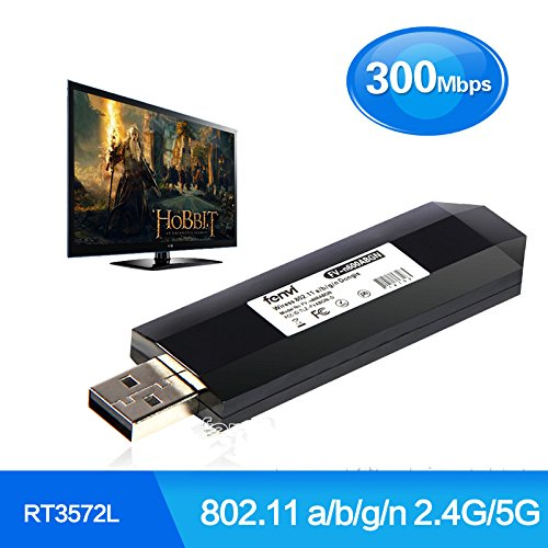 TV inalámbrico adaptador Wi-Fi USB adaptador Wi-Fi 2.4g/5g 300Mbps 802.11a/b/g/n USB TV...