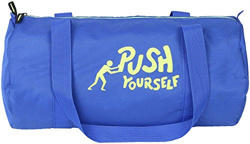 Salute HUNK Polyester Blue Travel Gym duffel Bag with LONG shoulder strap