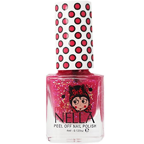 Miss Nella Sugar Hugs Glitter Special Glitter Kids Nail Polish with Peel-off Water Based Formula by...