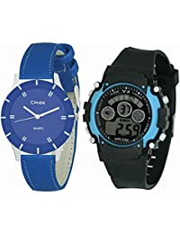 Crude Combo Of Analog & Digital Watch-rg624 With Multi Strap For - Women's, Girl's & Kid's