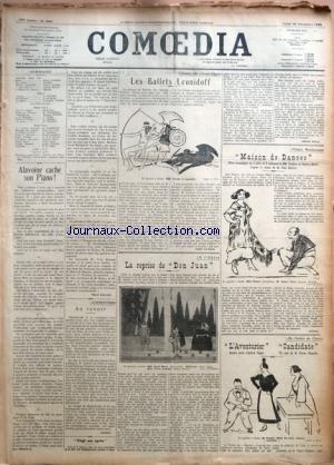COMOEDIA [No 3661] du 25/12/1922 - ALAVO...