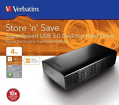 Verbatim 47674 4TB Store 'n' Save USB 3.0 Desktop HDD