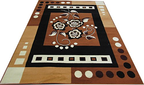 ZIA CARPETS MOST PREFER MODERN DESIGN 8x11 feet (240x330)CM.COLOR BLACK GOLD