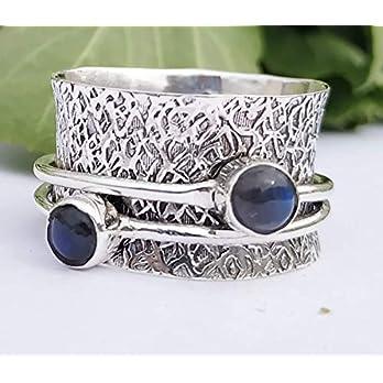 Meditationsringe, Spinnerringe, Silberringe für Frauen, Beautiful Designer Spinning Ring for Women, 925 Sterling Silver…