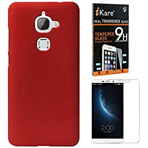 DMG Ultra Slim Protective Hard Back Case Cover for for LeEco Le 2 / Le 2 Pro + iKare Tempered Glass(Red)