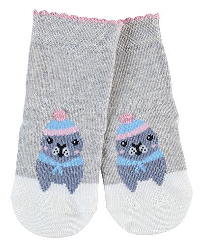 FALKE Babys Socken Baby Seal, , 1 Paar, Grau (Storm Grey 3820), Größe: 74-80
