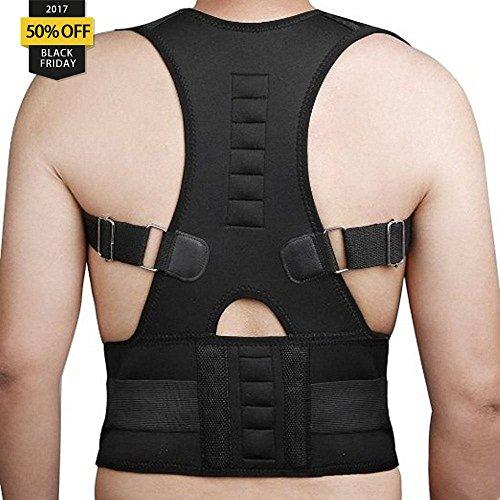 Magnetische Schulter Brace (aptoco Rücken Schulter Unterstützung Haltung Corrector Neopren magnetisch atmungsaktiv Gurtband für Schmerzen und Verletzungen Back)