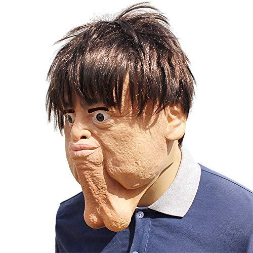 Zhanghaidong Hässliche Maske Latex Haube Maske Doppelkinn Halloween Maske Für Halloween Party Kostüm Dekorationen Scary Masken ()