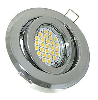 Spot encastré à lED lumière blanc chaud 5Watt lampe spot encastrable à lED avec culot gU10 230 v ø 100 mm