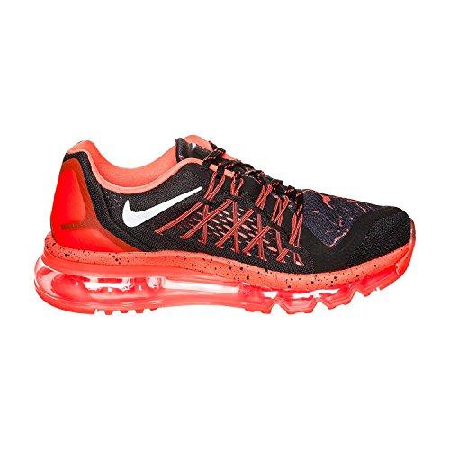 Nike Air Max 2015 Lava (Gs) Scarpe Sportive, Ragazzo Multicolore (Negro / Plateado / Rojo (Black / Mtllc Silver-Ttl Crmsn))