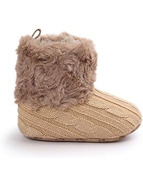 JL bebé niñas suave con pelo botas de nieve invierno cálido antideslizante zapatos de cuna