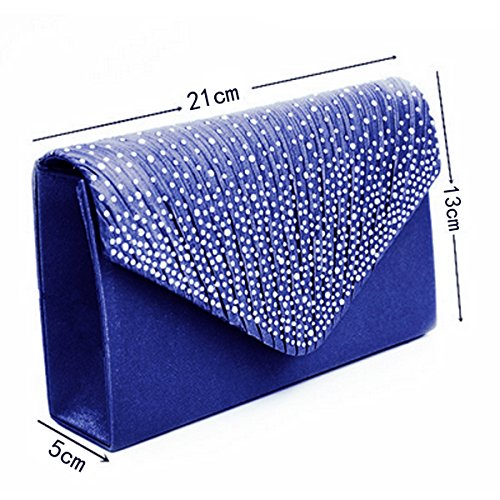AiSi - Borsetta senza manici donna Blu (Blu navy)