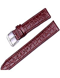 kolight® Motif Crocodile Marron 13 mm Bracelet en cuir véritable bracelet  boucle Gifts ba015e5805f